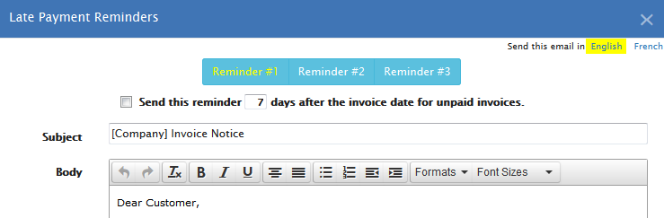 Automate Invoices Payment Reminders